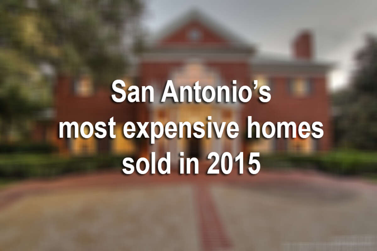 Fabulous homes have entered and exited the marketplace this year.Here are a few of the top 10 most expensive homes sold in San Antonio, listed from least to most expensive and numbered for clarification.