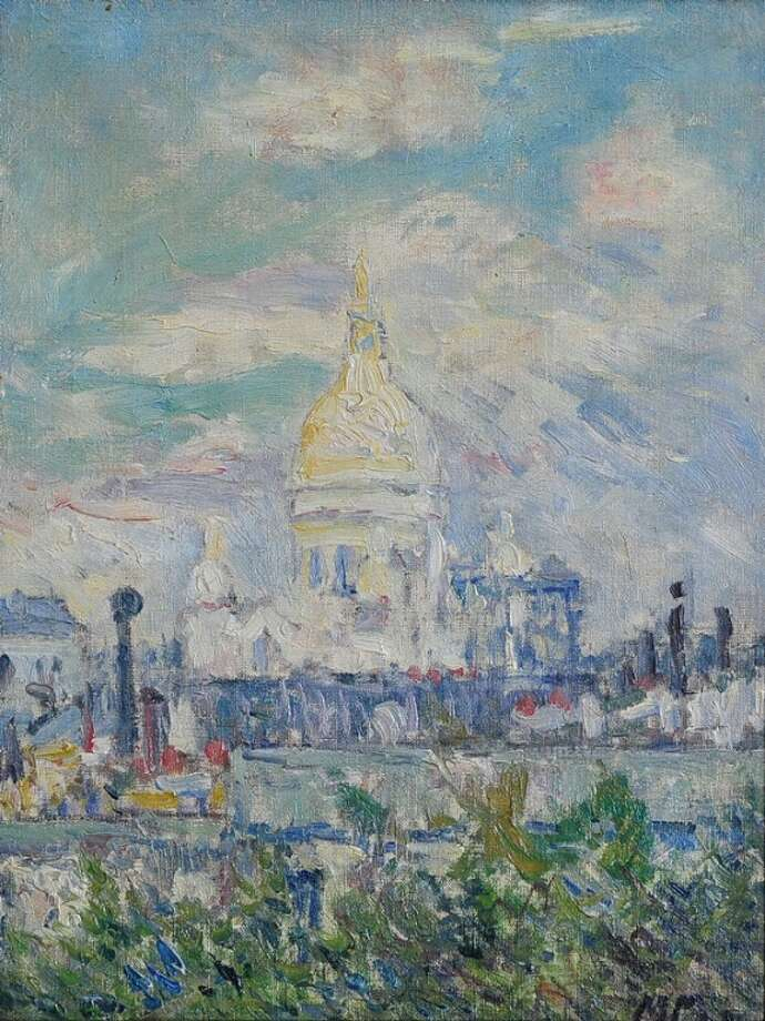 A painting - Le Sacré Coeur au Printemps by Maxime Emile Louis Maufra, was stolen from a home in Salisbury, Conn. in the summer of 2015. The painting was later sold by Monroe-based Fairfield Auctions. Art Recovery Group, United Kingdom-based art recovery specialist, help reunite the painting with the family that owned it. Photo: Art Recovery Group