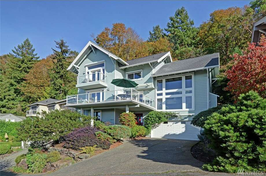 This home, 10438 47th Ave. S.W., is listed for $1.199 million. The three bedroom, 2.5 bathroom home is in the secluded West Seattle neighborhood of Brace Point, and features sweeping views, floor to ceiling windows and a secluded garden.
