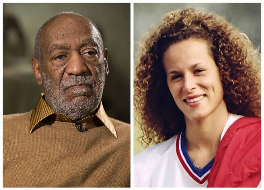 FILE - In this combination of file photos, entertainer Bill Cosby pauses during an interview in Washington on Nov. 6, 2014, and Andrea Constand poses for a photo in Toronto on Aug. 1, 1987. Cosby was charged Wednesday, Dec. 30, 2015, with drugging and sexually assaulting Constand at his home in January 2004. They are the first criminal charges brought against the comedian out of the torrent of allegations that destroyed his good-guy image as America's Dad. Photo: Associated Press