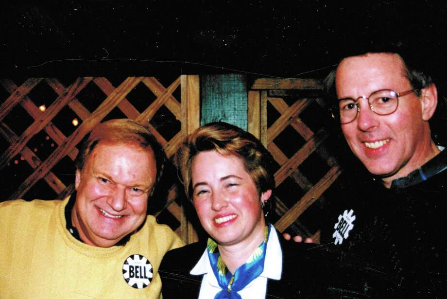 Tony Carroll, Bruce Smith, and Houston mayor-to-be Annise Parker, circa 1997. Photo: Courtesy Photo