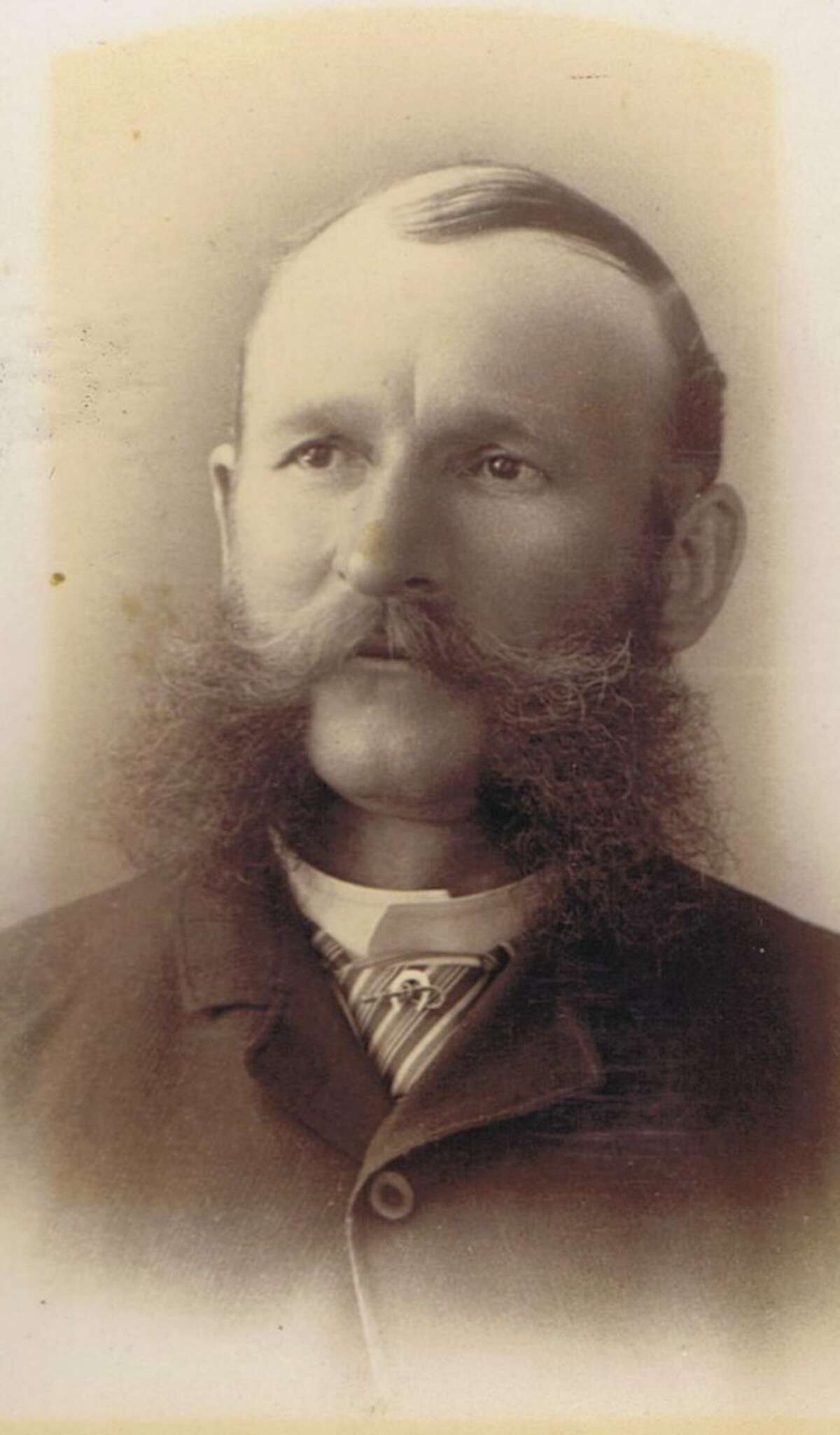 Great example of mutton chop/sideburn/mustache combo, ca. 1870's, from the collection of Bob Bragman