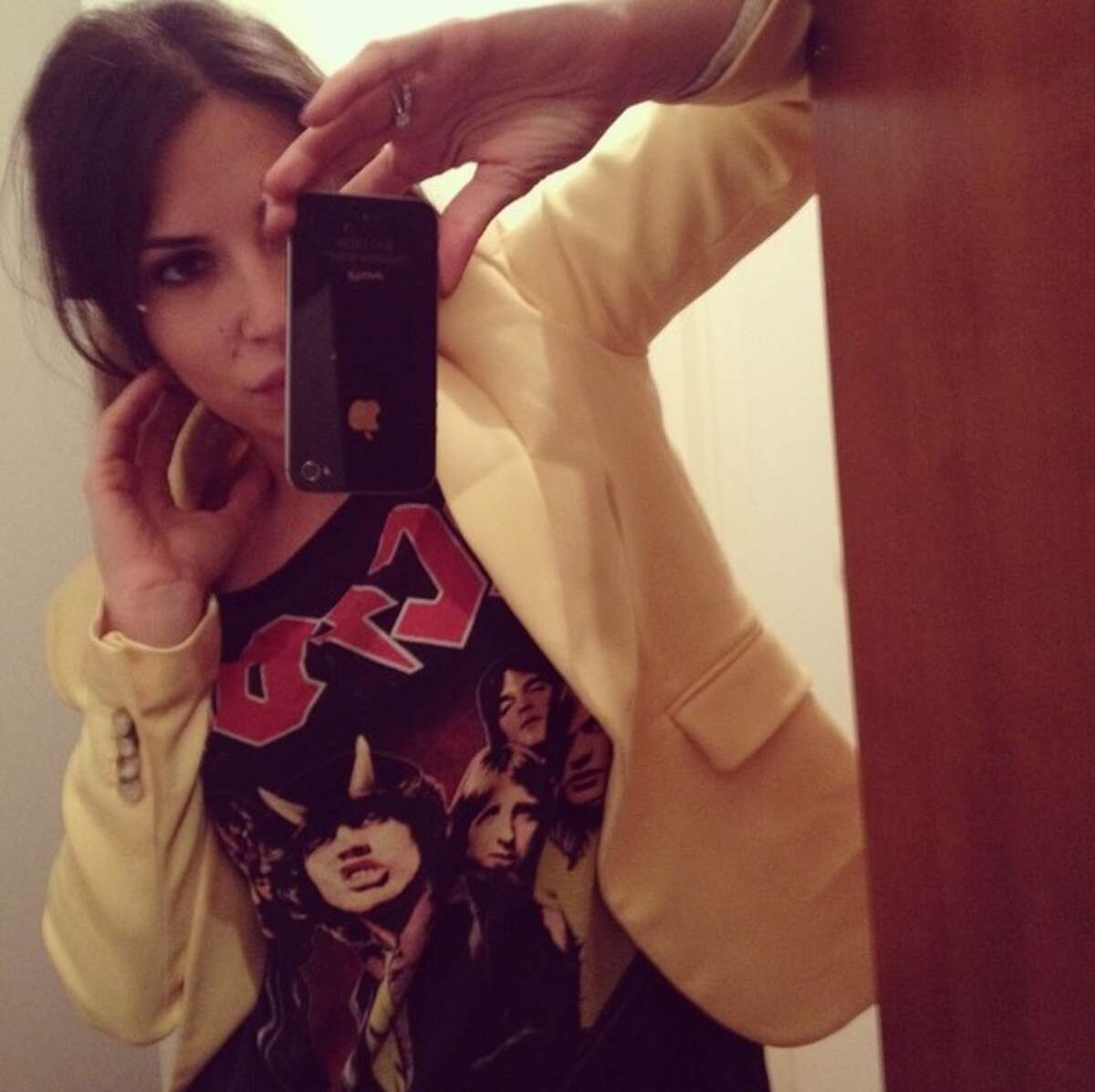 1. She's a little bit rock and rol lMrs. Marjanovic frequently posts photos of herself wearing Iron Maiden, Metallica and ACDC gear.