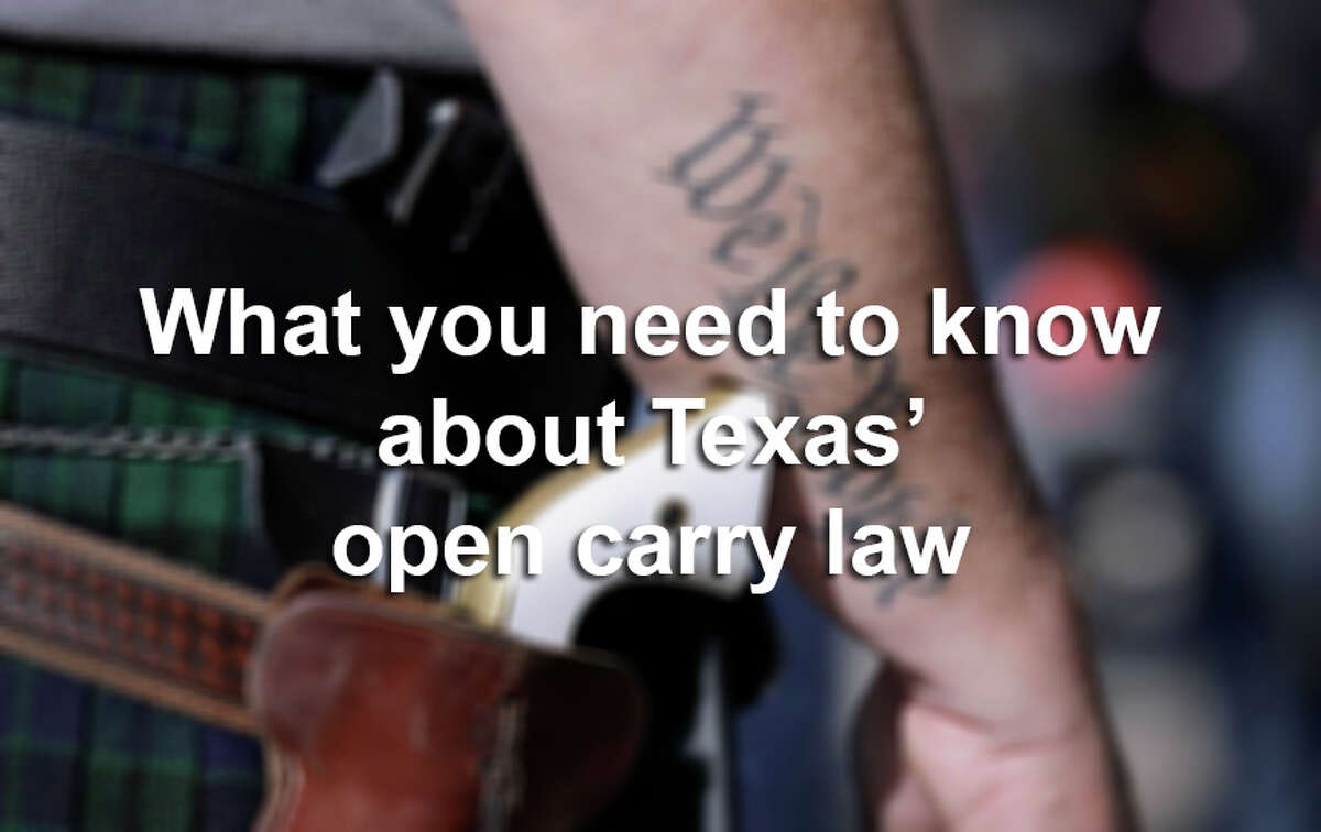 Scroll through the slideshow for nine things you should know about Texas' new open carry law.