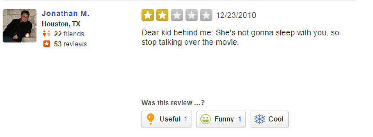 A Yelp review of AMC Studio 30.