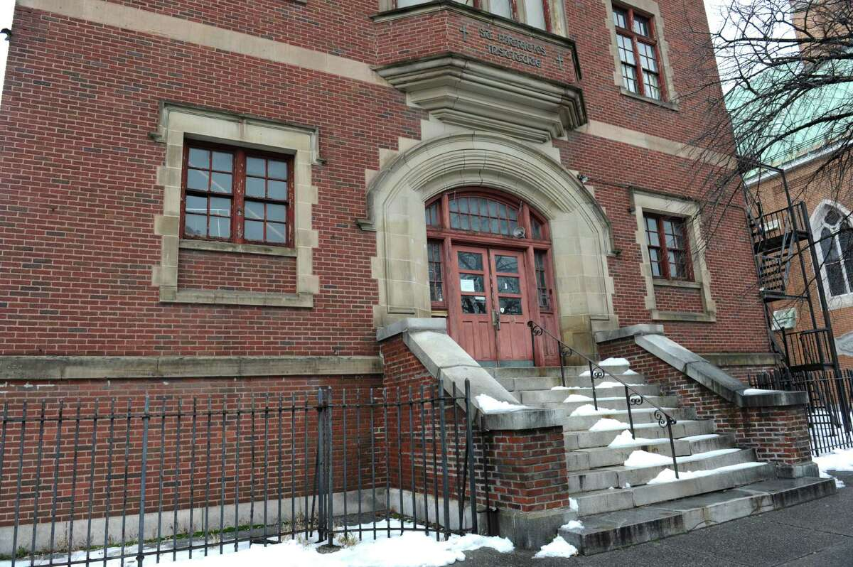 The former St. Patrick's Catholic school on Central Ave. Wednesday, Dec. 30, 2015 in Albany, N.Y. The building will be an incubator tech start-up called the S.T.E.A.M. Garden thanks to $850,000 in state grants to the Cetnral Avenue BID. The BID bought the long-closed school from the Albany Catholic diocese for $200K in 2011.(Lori Van Buren / Times Union)