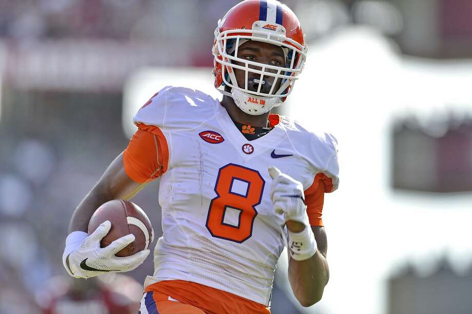 Clemson freshman receiver Deon Cain led led the Tigers with 17.1 yards per catch. He is one of three players suspended for the Orange Bowl. Photo: Richard Shiro, Associated Press