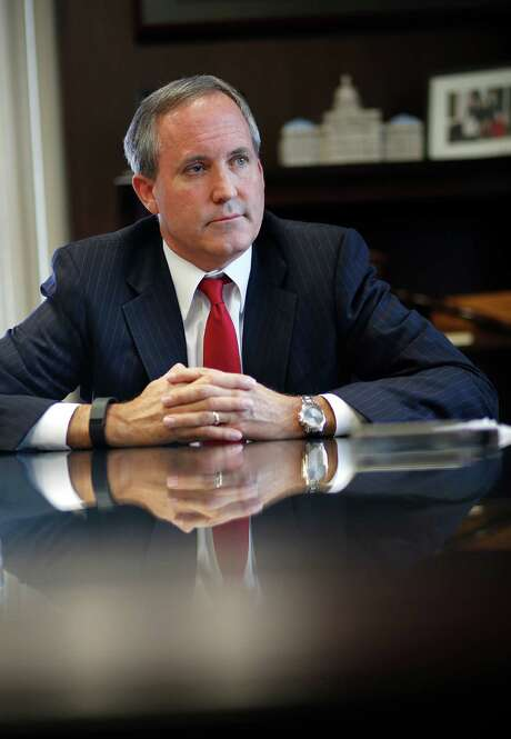 Texas Attorney General Ken Paxton is interviewed inside his Austin office, Wednesday, Oct. 7, 2015. ( Mark Mulligan / Houston Chronicle ) Photo: Mark Mulligan, Staff / © 2015 Houston Chronicle