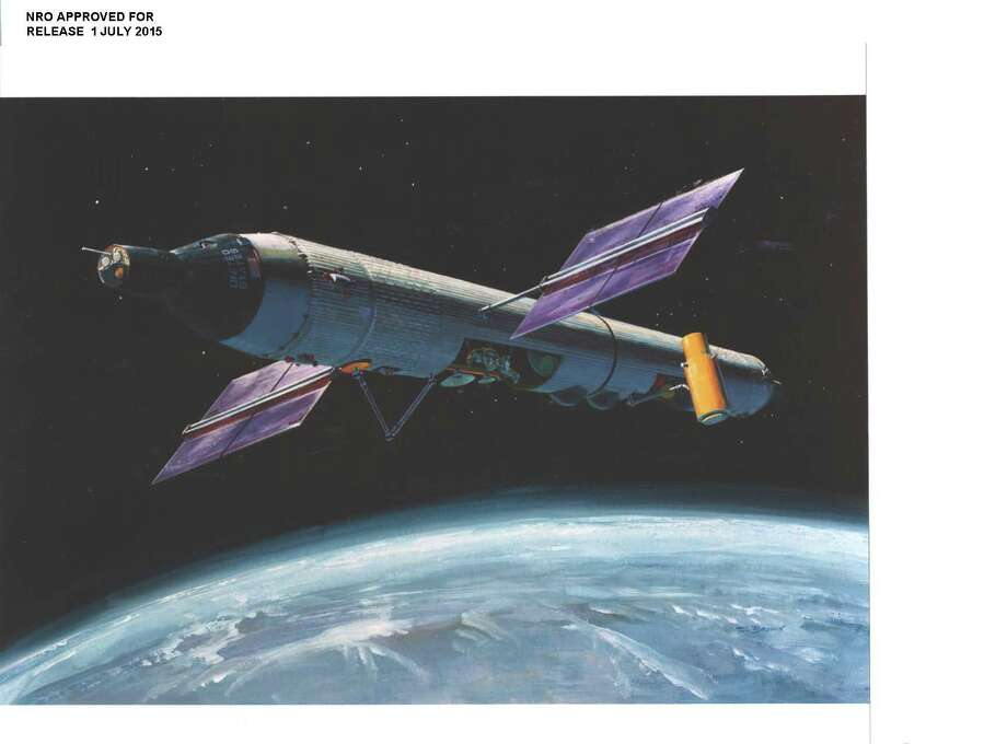Newly declassified image of the proposed orbital structure for the Manned Orbiting Laboratory project run primarily in secret by the United States Air Force and the National Reconnaissance Office (a U.S. government organization classified until 1992). The MOL project was designed to put Air Force personnel in space to spy on Russia, in particular, for up to 40 days at a time using photography and other tools. The program was announced in 1963 as an experimental program to test the viability of man in space, with its real purpose remaining classified until October 2015. MOL was decommissioned in 1969 after spending more than $1.3 billion and without a manned flight. (No detailed information was provided for the photo.) Photo: US Government