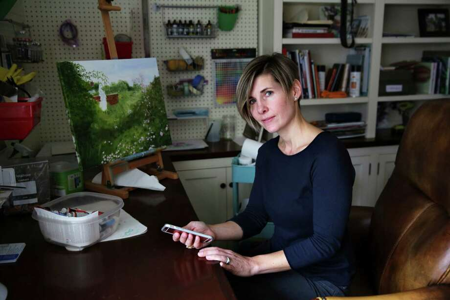 Lisa Libretto of Ridgefield, Conn., has used ShopAdvisor, a new shopping app, on her smartphone. The app not only locates a shopper in a store but provides personalized creative content from that retailer to that shopper on the spot. Photo: RICHARD PERRY, STF / NYTNS