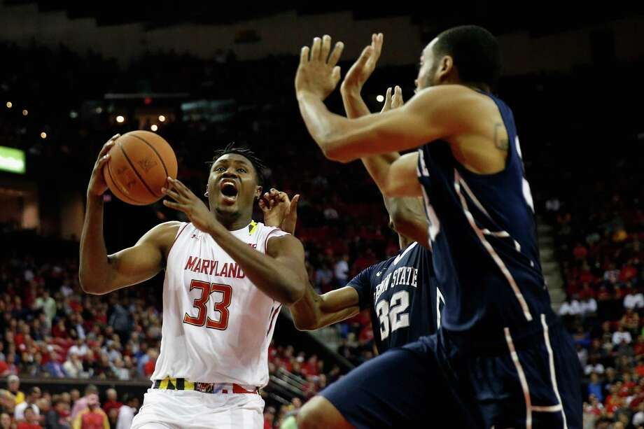Freshman Diamond Stone (33) rocked Penn State for 39 points and 12 rebounds to lead Maryland to victory after it trailed by 10 with 7:58 to play. Photo: Rob Carr, Staff / 2015 Getty Images