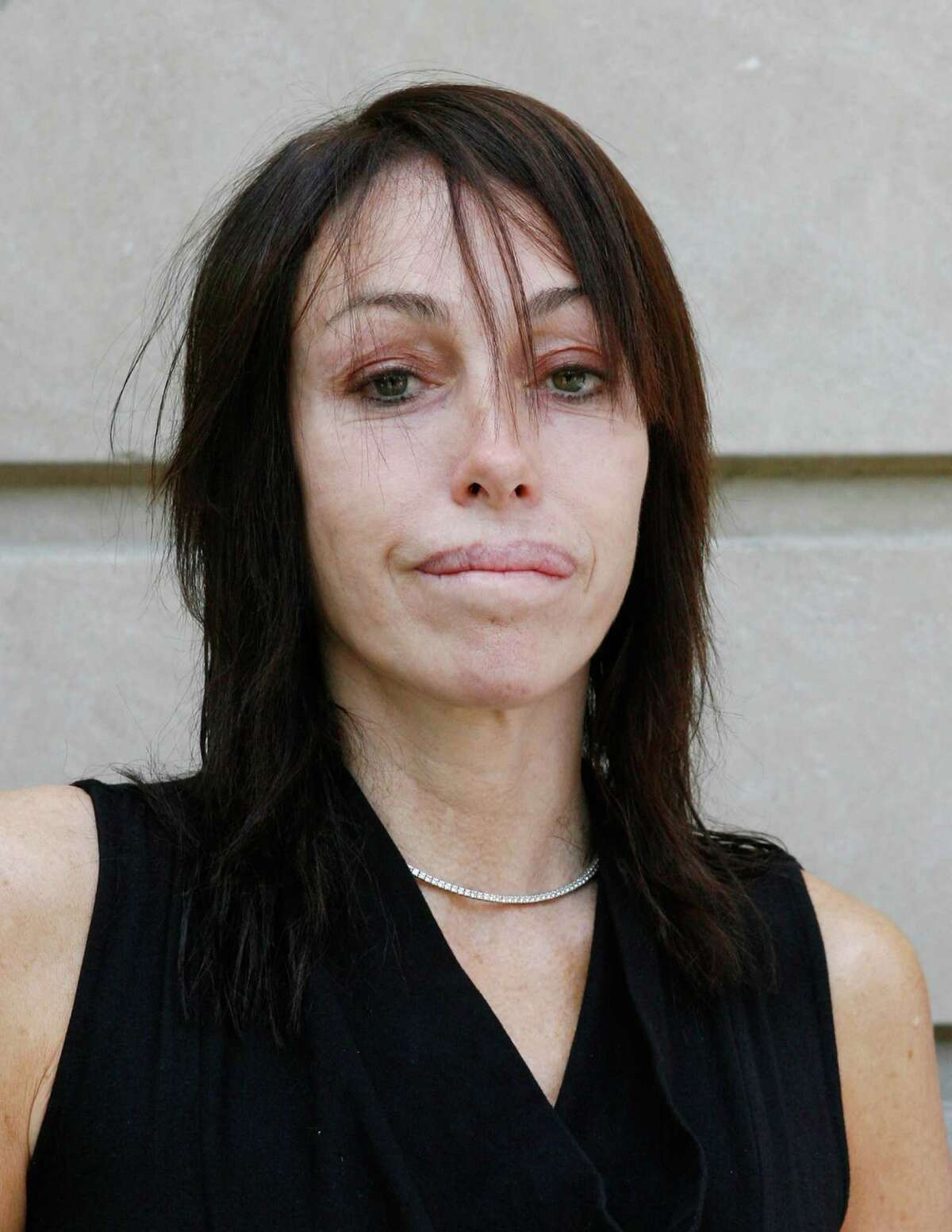 NEW YORK - JUNE 17: Heidi Fleiss, who aligned herself with PETA, arrives at PetSmart's annual meeting at The Ritz-Carlton New York on June 17, 2009 in New York City. (Photo by Mark Von Holden/WireImage)
