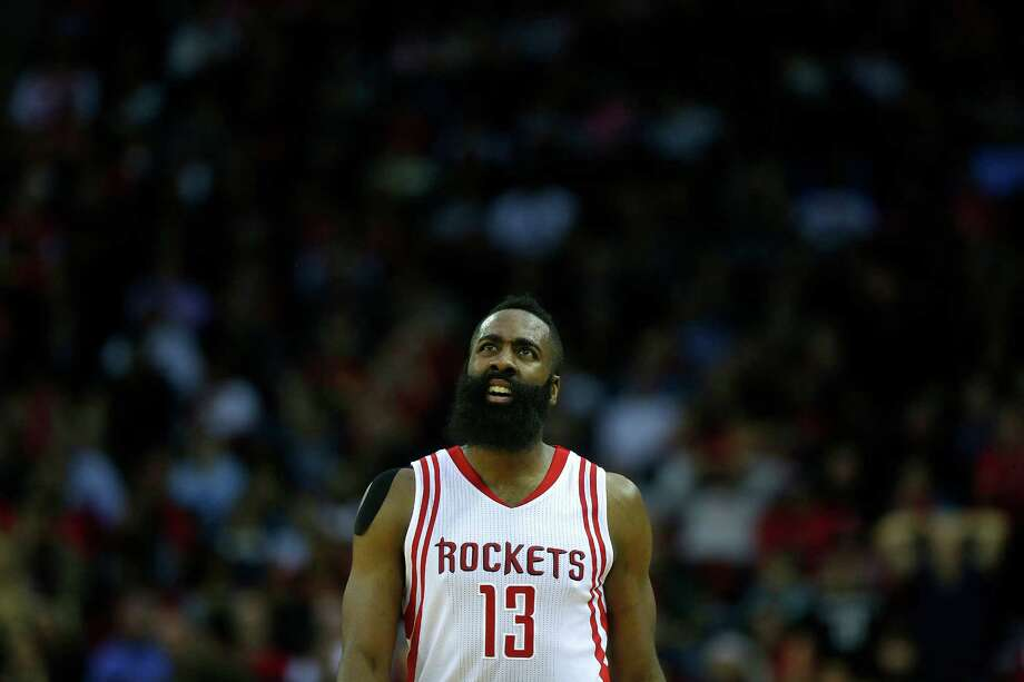 Houston Rockets guard James Harden (13) is unhappy with a call during the second half of the Houston Rockets 121-115 loss to the Atlanta Hawks, Tuesday, Dec. 29, 2015, in Houston. ( Mark Mulligan / Houston Chronicle ) Photo: Mark Mulligan, Staff / © 2015 Houston Chronicle
