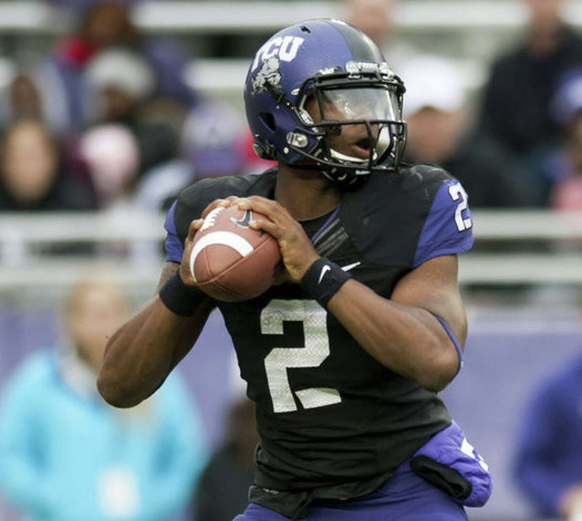 TREVONE BOYKIN, TCU Class:Senior Height/weight:6-2, 205 2015 stats:11 games, 257 of 396, 3,575 yards, 31 TDs, 10 INTs Career stats:48 games, 830 of 1,356, 10,728 yards, 86 TDs, 37 INTs NFL.com grade: 5.0