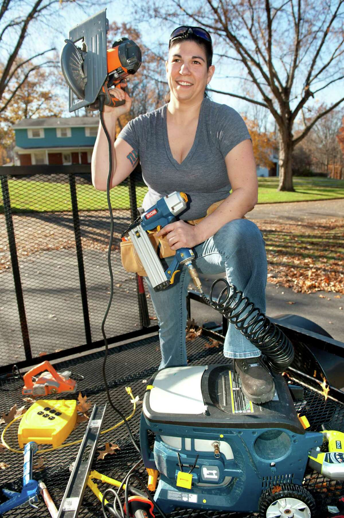 Deborah Garnett, who owns a general contracting business, on Wednesday, Nov. 4, 2015, at her home in Clifton Park, N.Y. (Cindy Schultz / Times Union)