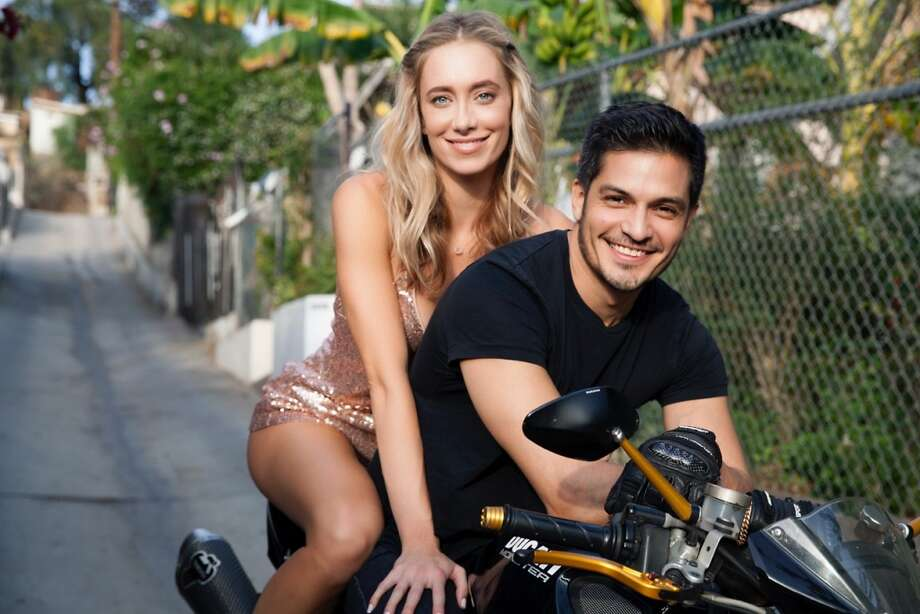 S.A.-born actor Nicholas Gonzalez and his new bride, actress Kelsey Crane. Photo: Melissa Coulier