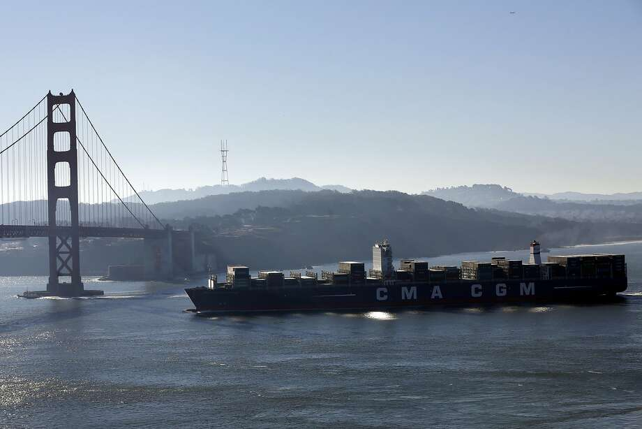Biggest cargo ship to ever grace S F  Bay is here - SFGate