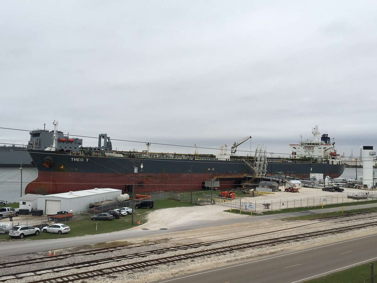 The Theo T crude oil tanker is being loaded with Eagle Ford crude today at NuStar Energy LP's Corpus Christi dock. The oil is being sold to Switzerland-based Vitol.