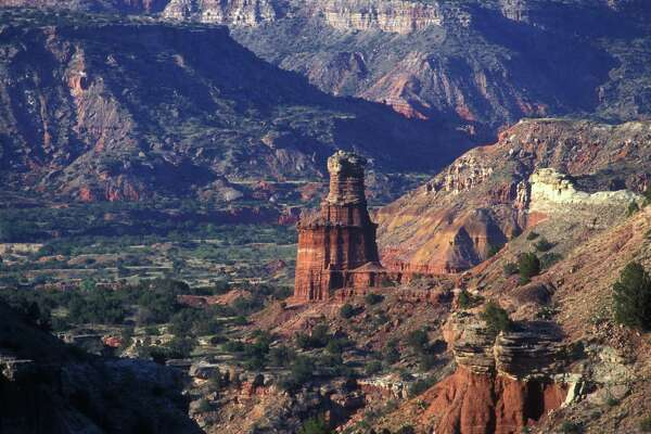 Texas' Palo Duro Canyon is second in size ony to the Grand Canyon and Palo Duro State Park hosts an annual music festival.