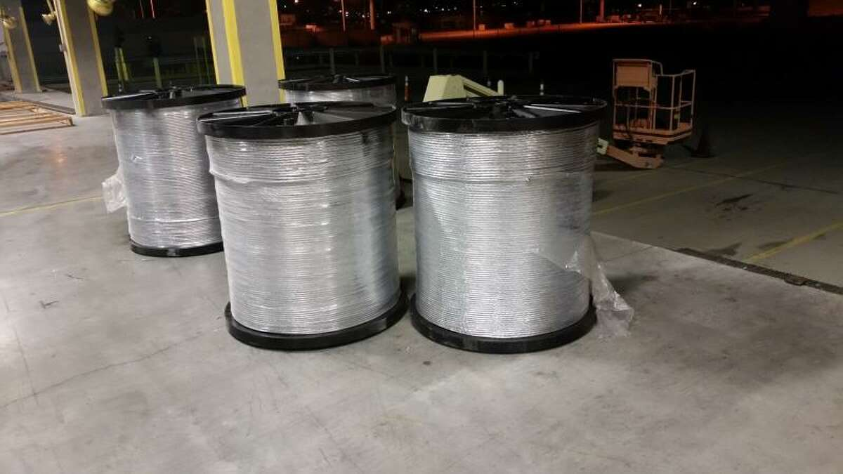 $1 million of marijuana hidden in cable spools Officers in El Paso, Texas recovered more than 1,300 pounds of marijuana stashed inside cable spools being carried by a Peterbilt tractor across the Bridge of the Americas in April 2015. Power tools and a drug-sniffing dog were brought in to make the find.