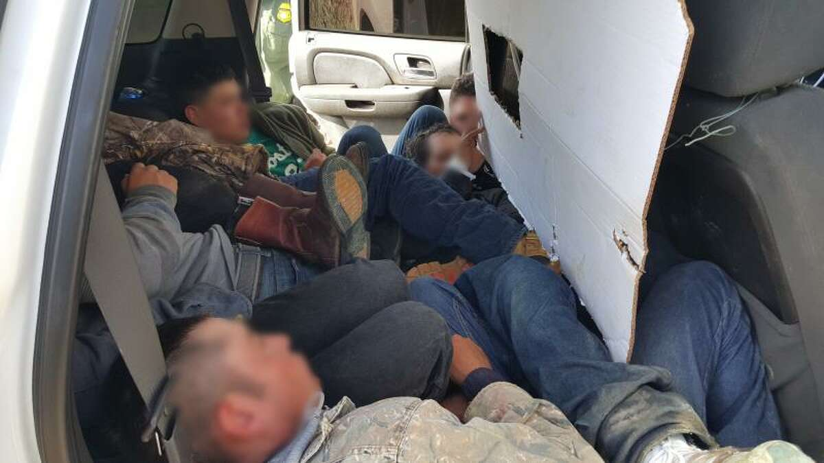 Fake Border Patrol vehicle Officers near Laredo, Texas stopped stopped a white Chevrolet Tahoe designed to look like a Border Patrol vehicle in December 2015. The vehicle had 12 immigrants smuggled inside.
