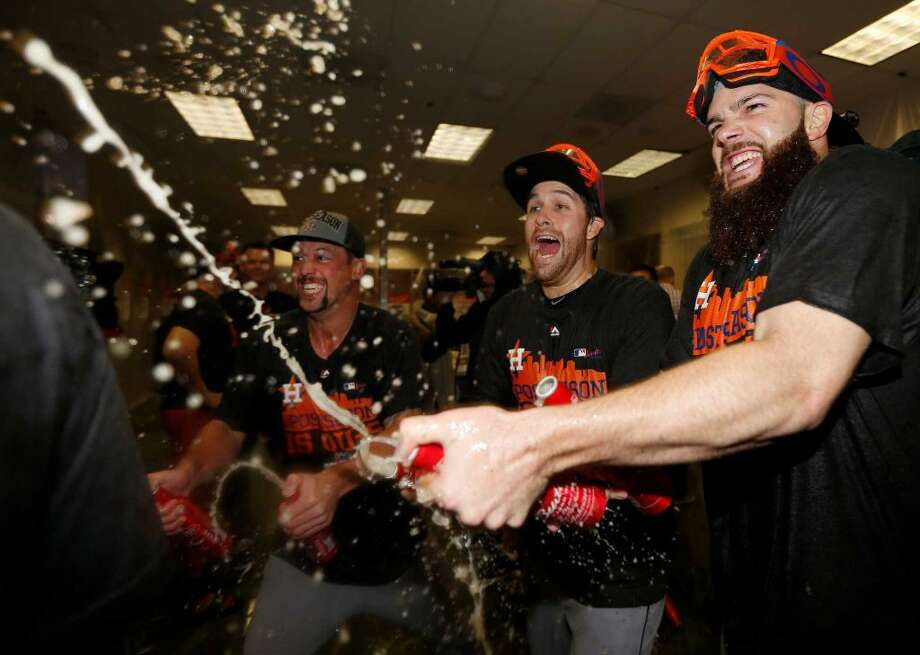 PHOTOS: A look at the Astros playoff historyThe American League Division Series will begin Oct. 5. The first game of the World Series is scheduled for Oct. 24.Browse through the photos for a look at the Astros' history in the postseason. Photo: Karen Warren, Houston Chronicle