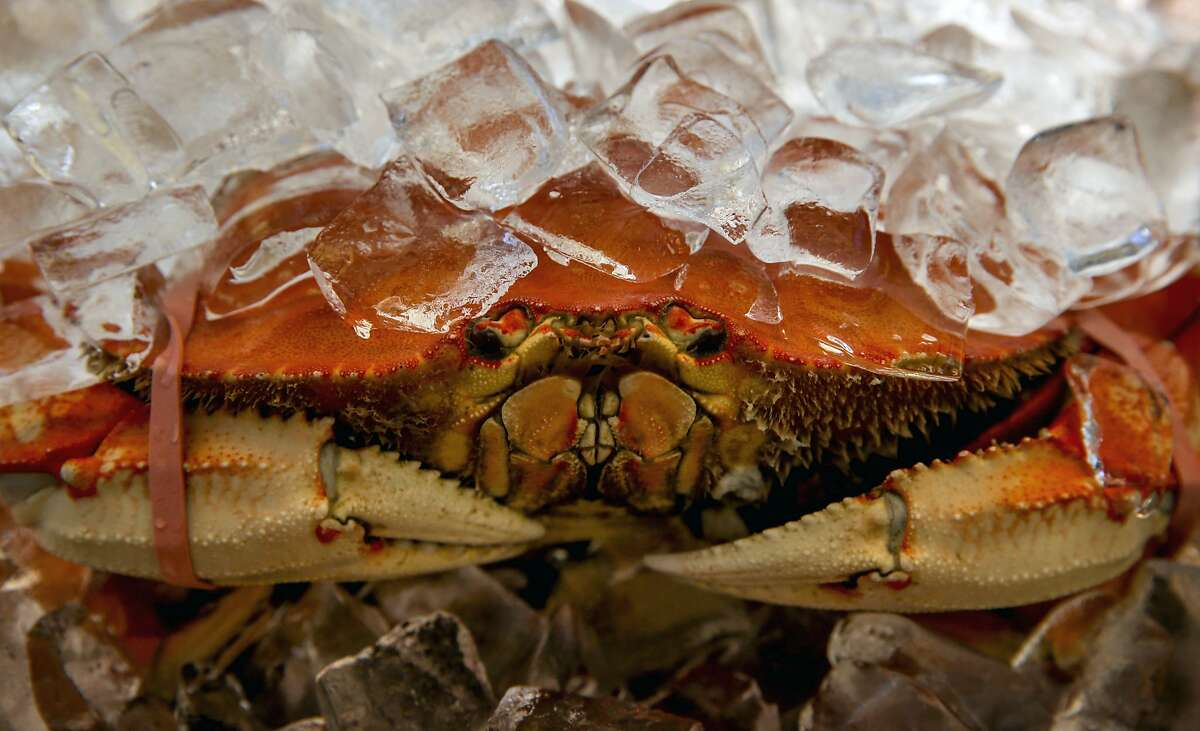 Dungeness crab from Washington state is cooked and up for sale along Fisherman's Wharf in San Francisco, Calif. on Thursday December 31, 2015, as California's commercial crab season remains closed after a neurotoxin was found in local Dungeness crab earlier this year.