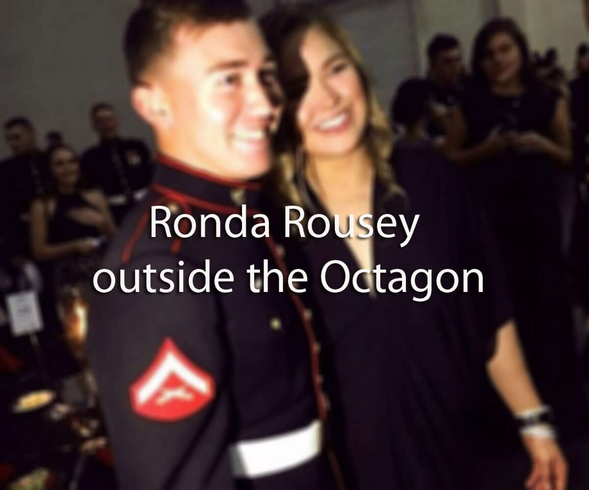 >> See photos of Ronda Rousey outside the Octagon...