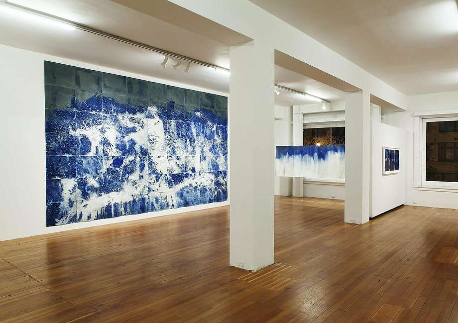 "Meghann Riepenhoff's series of cyanotypes ""Littoral Drift"" is on view at San Francisco Camerawork through Feb. 3, 2016. Photo: Courtesy Meghann Riepenhoff"