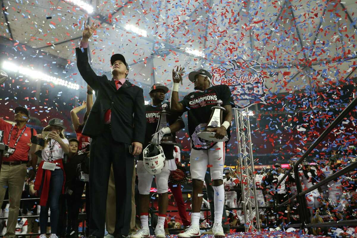 Confetti rained down in Atlanta on Dec. 31, 2015, after UH capped a 13-1 season with a convincing Peach Bowl win over Florida State.