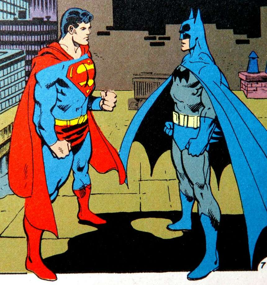 Superman and Batman as drawn by long time Stratford resident Dick Giordano, who passed away on March 28th at the age of 77. Photo: Contributed Photo / Connecticut Post Contributed