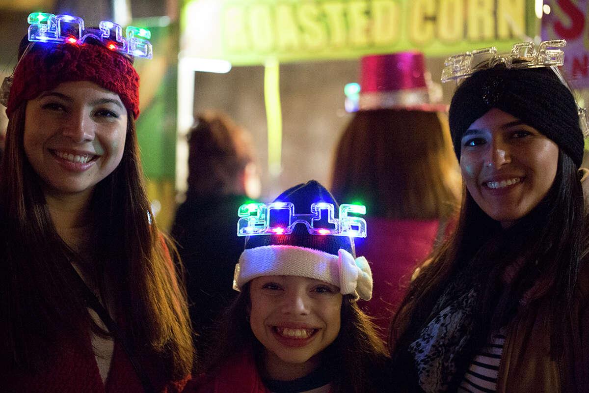 San Antonians rang in the new year at Celebrate San Antonio Dec. 31, 2015.