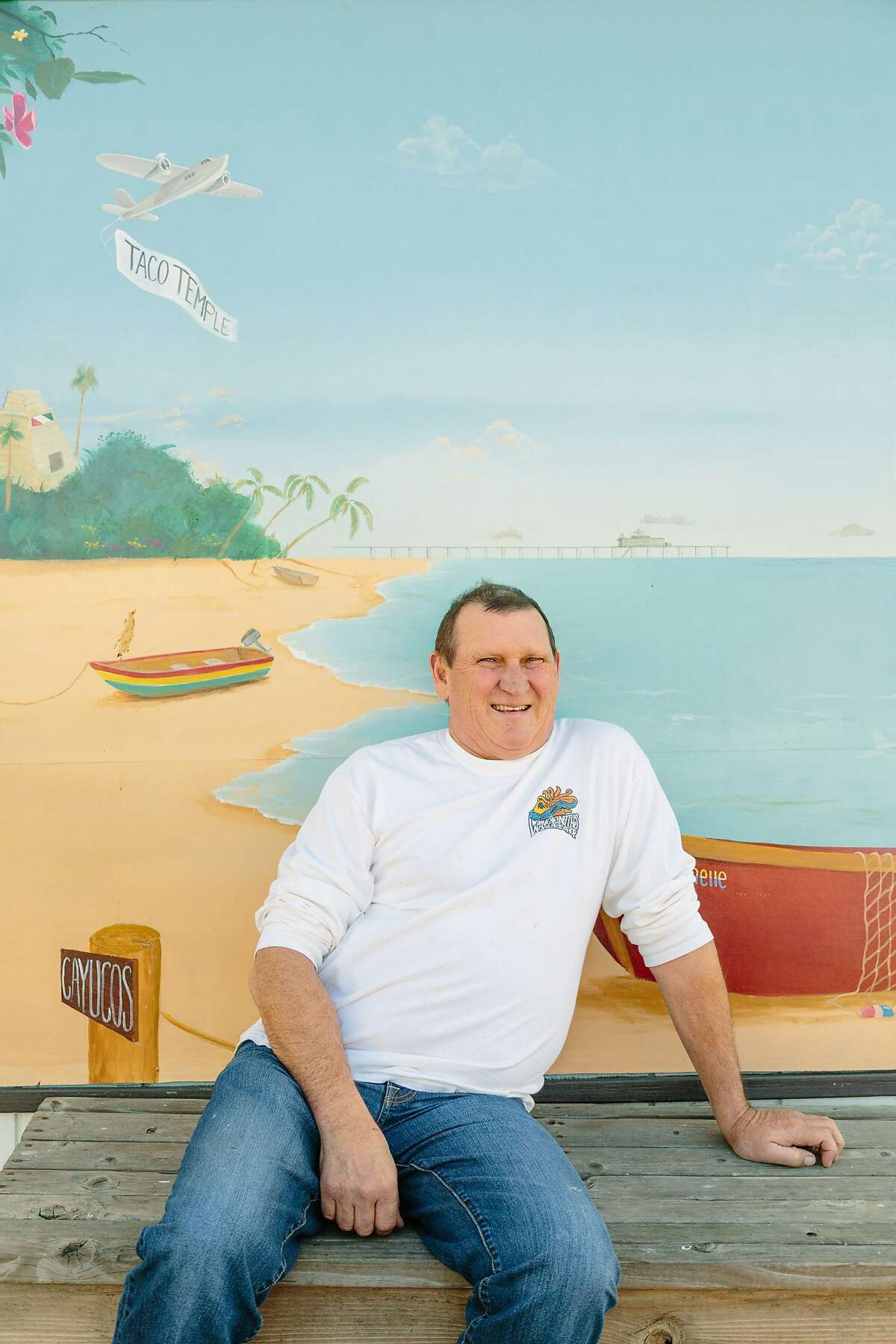 Owner Jim League at Taco Temple in Morro Bay, Calif., Wednesday, December 23, 2015.