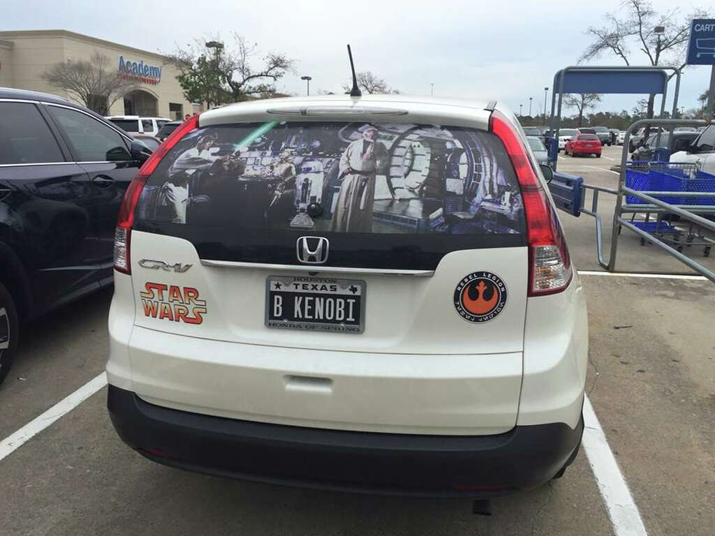 The Driver Of This Houston SUV Is Probably The Biggest Star Wars - Custom car decals houston   how to personalize