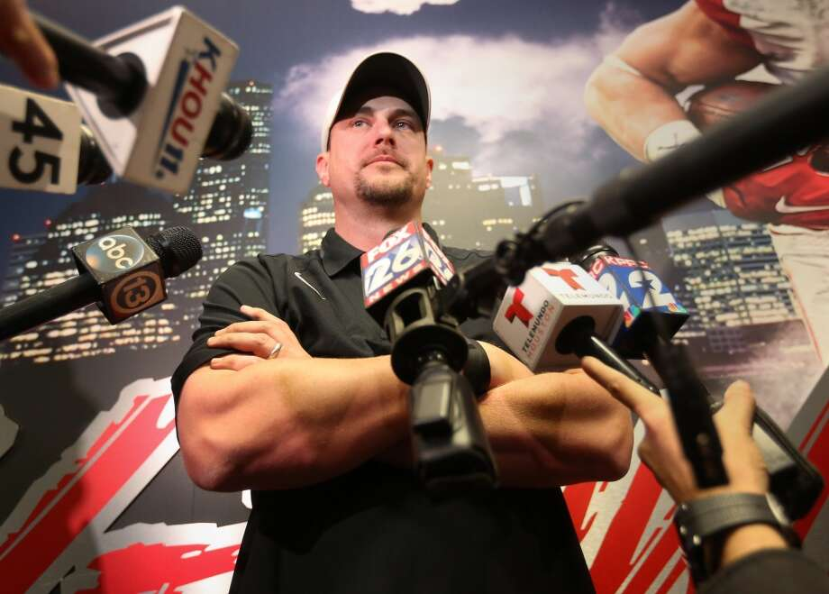 A local radio interview UH coach Tom Herman did Wednesday didn't take long to get contentious. Photo: Houston Chronicle