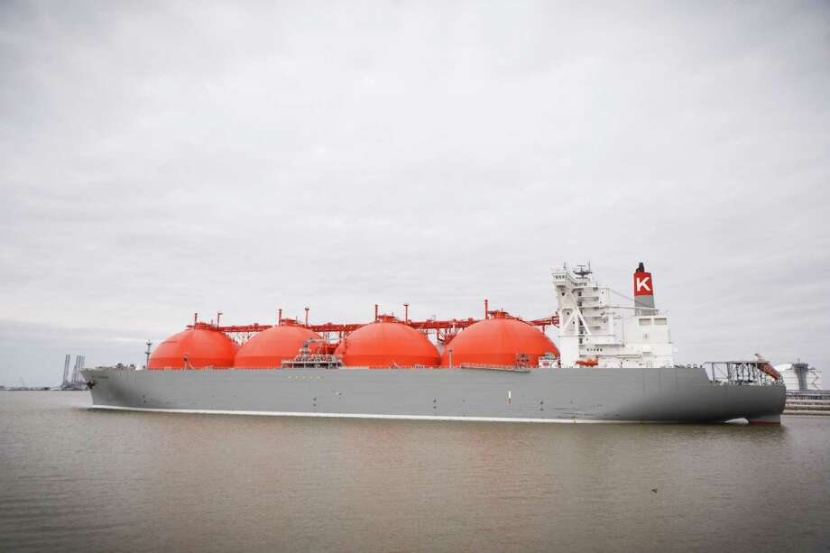 A liquid natural gas tanker is loaded at the Cheniere LNG terminal near Sabine Pass, La., in 2011. Before drillers started pulling the fuel out of tight-rock formations, Cheniere was building import terminals in anticipation of a domestic shortage. Following the onslaught of shale gas, Cheniere started retrofitting terminals for exports. Photo: New York Times File Photo / NYTNS