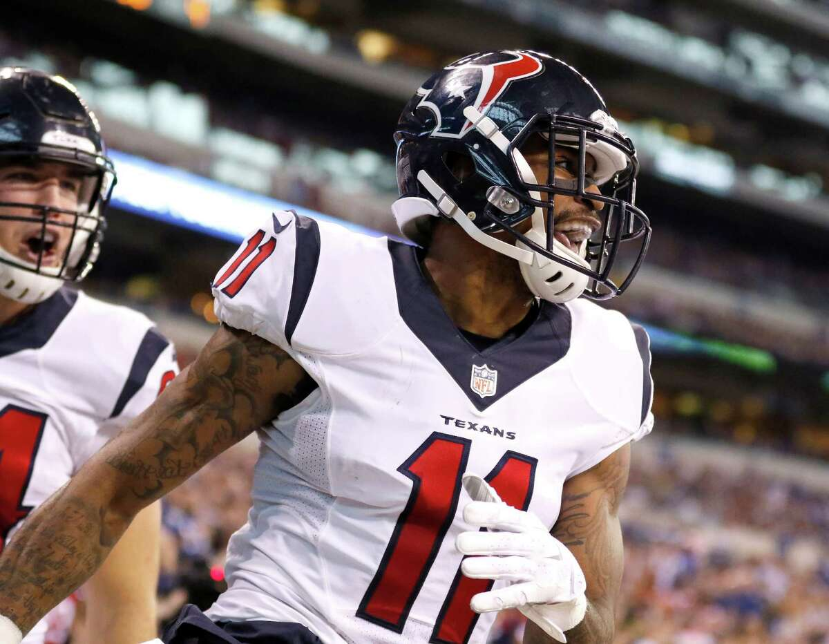 Jaelen Strong Wide receiver   Arizona State   3rd round, 70th overall After reporting overweight at 231 pounds and struggling with practice habits and hands, Strong has dieted and exercised down to 197 pounds and has contributed some clutch plays. Needs to refine routes, do more next season.