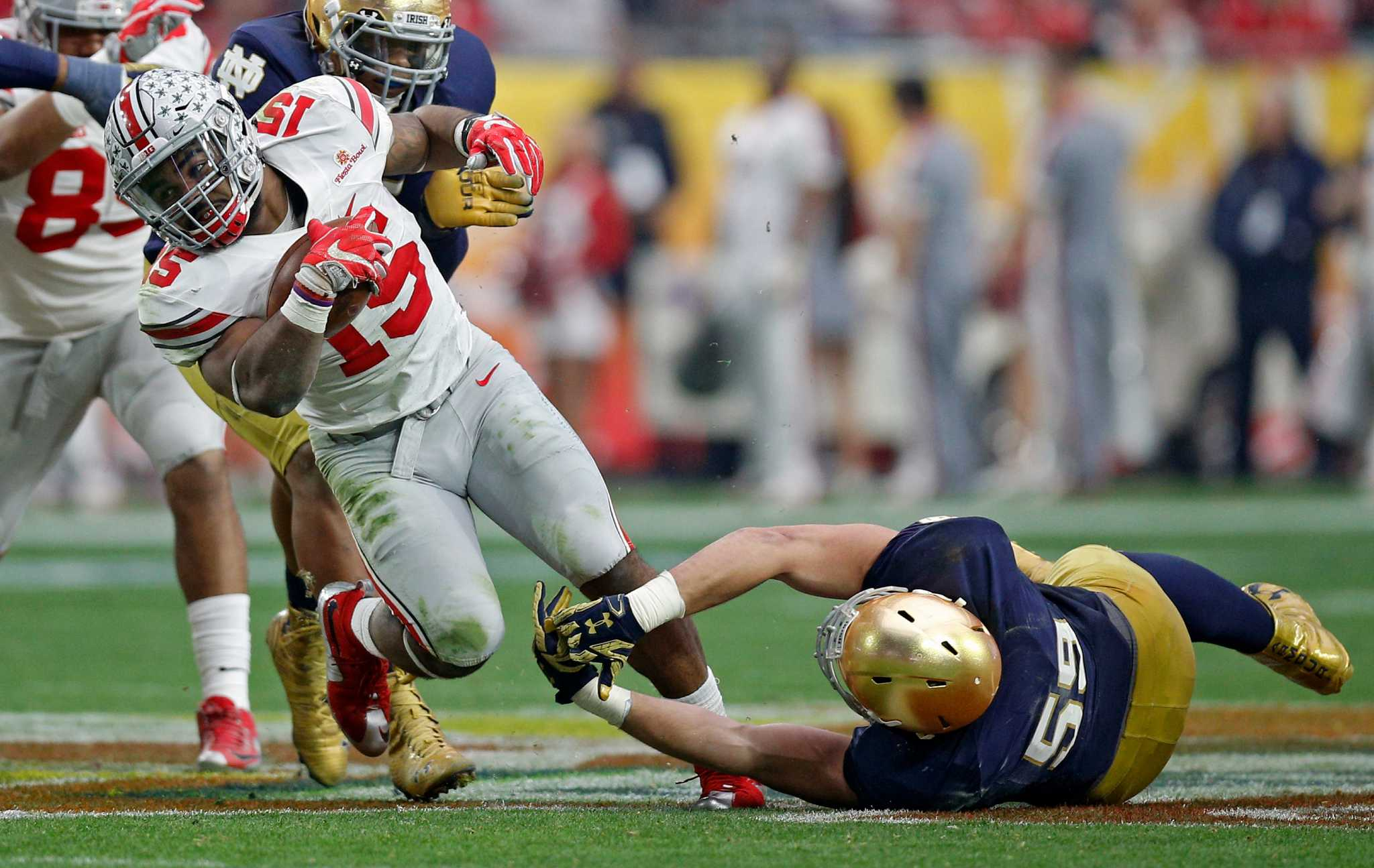 notre dame score live college top 25 football scores