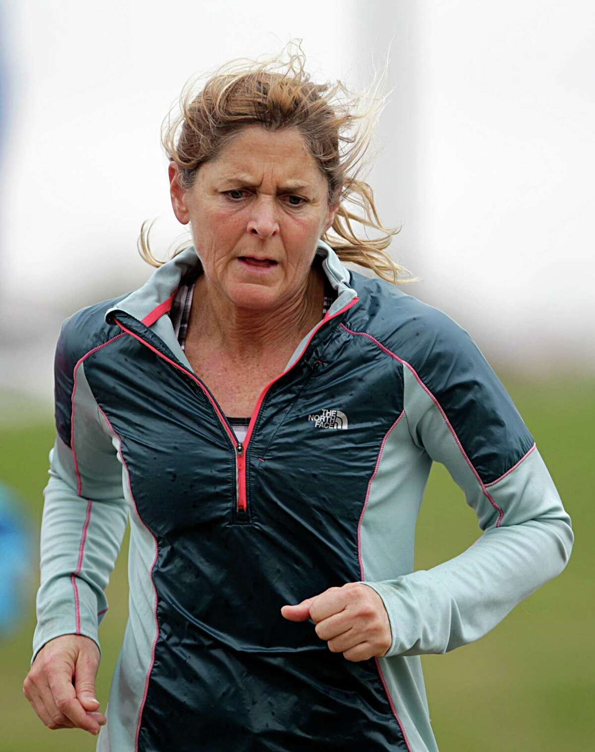 Connie Gardner on her 109th mile during Snowdrop Ultra 55 Hour Race & Relay Friday, Jan. 1, 2016, in Sugar Land.