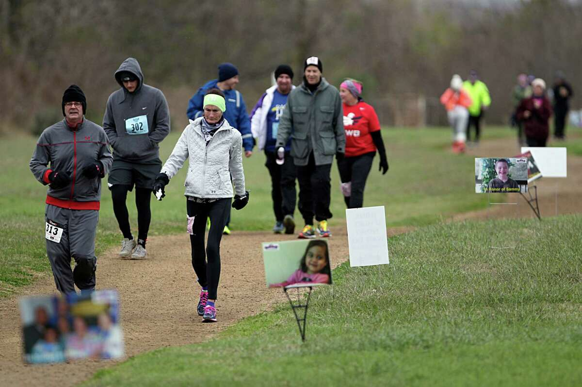 Individual runners and relay teams compete during Snowdrop Ultra 55 Hour Race & Relay Friday, Jan. 1, 2016, in Sugar Land.