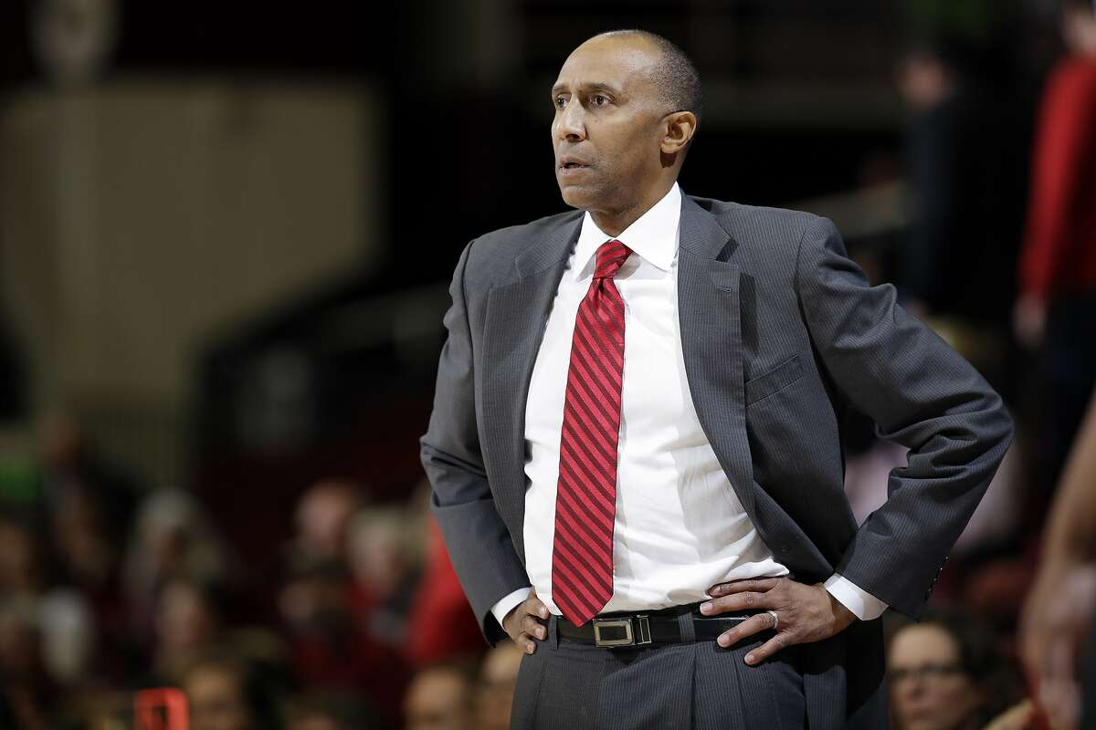 Stanford head coach Johnny Dawkins during the first half of an NCAA college basketball game against DePaul Tuesday, Dec. 15, 2015, in Stanford, Calif. (AP Photo/Marcio Jose Sanchez)