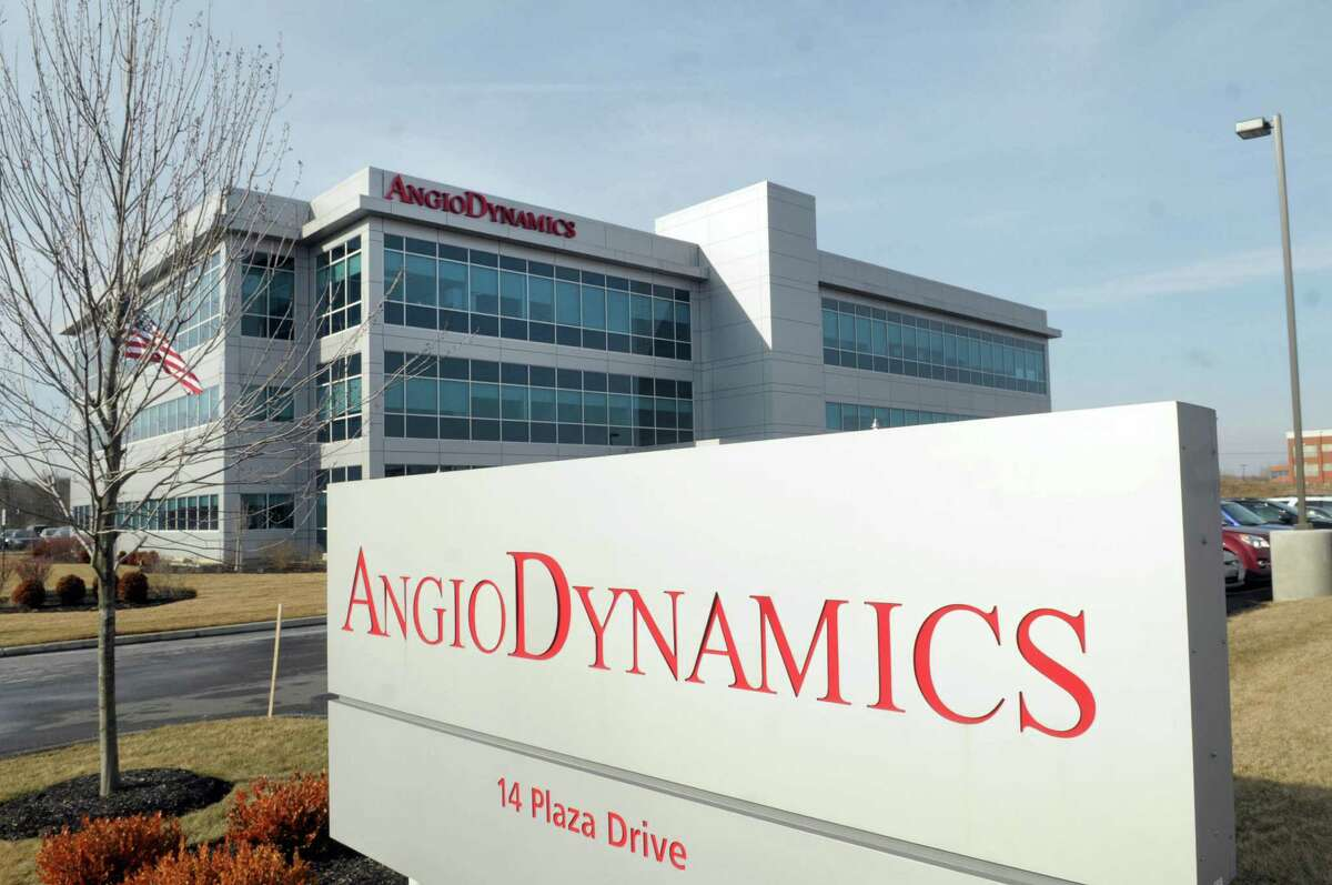 A view of the offices of AngioDynamics on Tuesday, Jan. 31, 2012, in Latham, NY. (Paul Buckowski / Times Union archive)