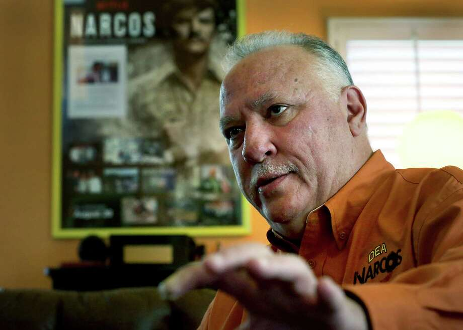 "Javier Pena headed the DEA in San Antonio and Houston, among other cities before retiring in 2014.  Pena became part of the drug war in Colombia, where he helped the country target drug lord Pablo Escobar.  Actor Pedro Pascal portrays Javier Peña in the popular Netflix series ""Narcos"". Tuesday, Dec. 22, 2015. Photo: BOB OWEN, Staff / San Antonio Express-News / San Antonio Express-News"