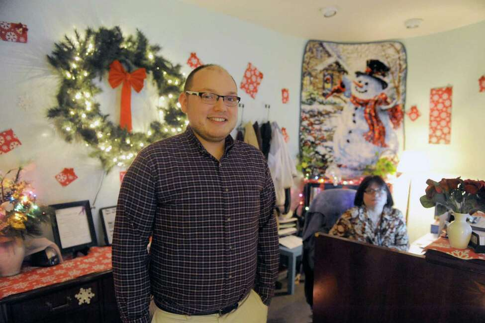 Dave Warren first man to head the domestic violence services of Unity House on Thursday Dec. 10, 2015 in Troy, N.Y. (Michael P. Farrell/Times Union)