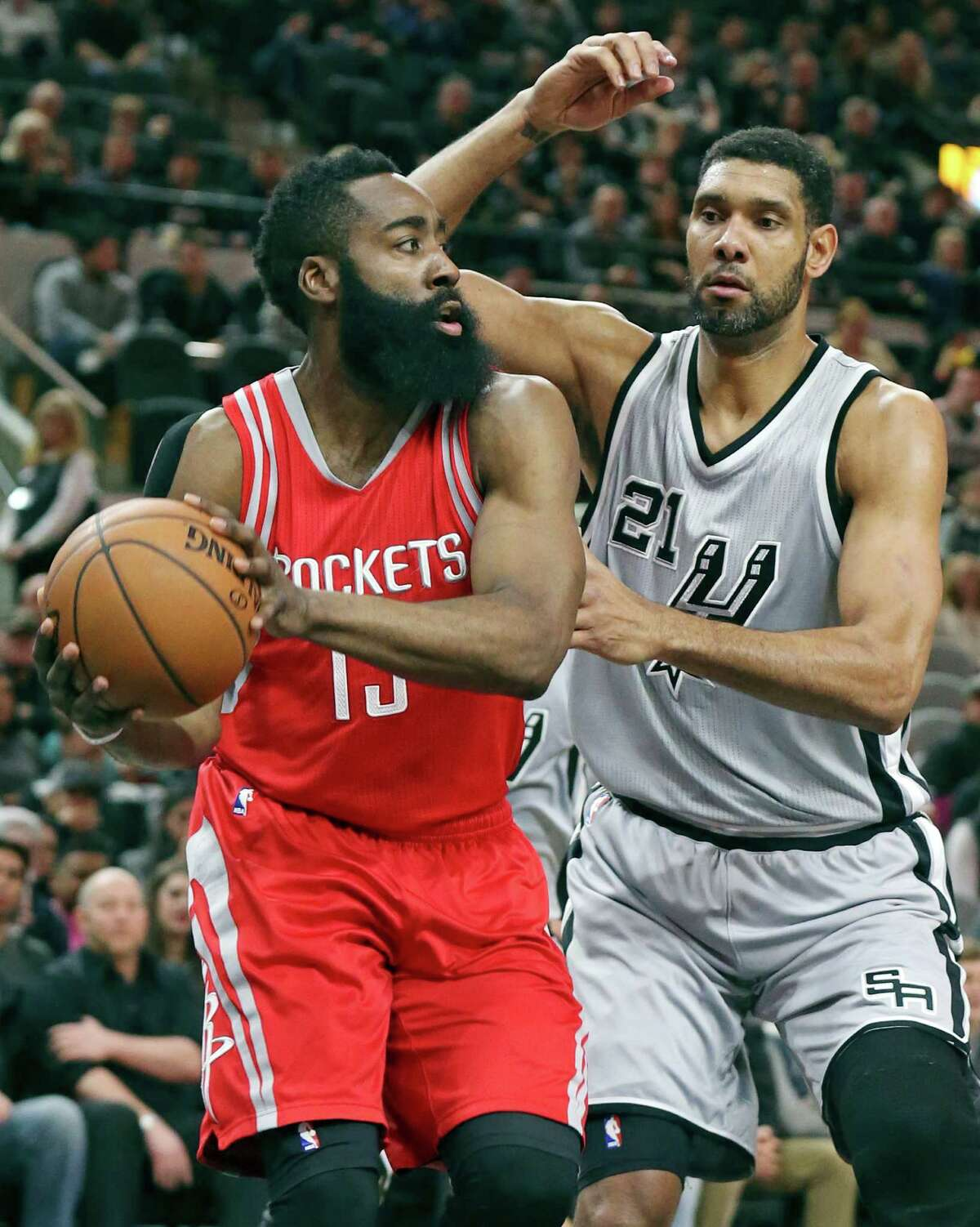 Tim Duncan went 48-22 in his career against the Rockets, averaging 19 points and 10.2 rebounds per game. Browse through the photos to see the future Hall of Famer's 21 best games against the Rockets.