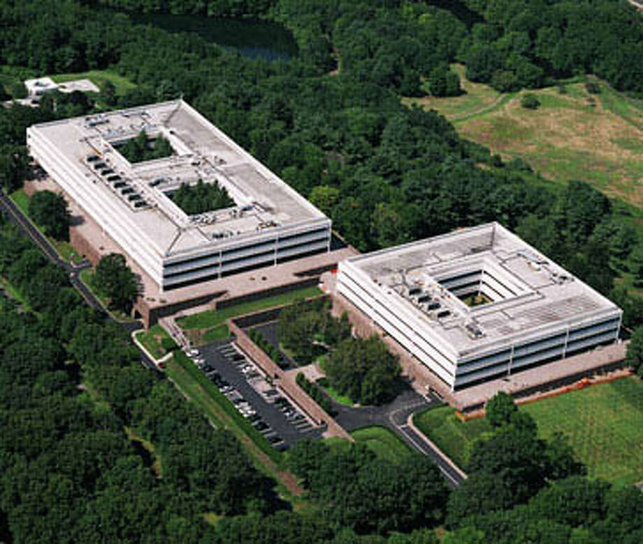 An aerial view of General Electric's corporate campus on Easton Turnpike. The international corporation has been the town's largest taxpayer for decades. Photo: Contributed / Contributed Photo / Fairfield Citizen
