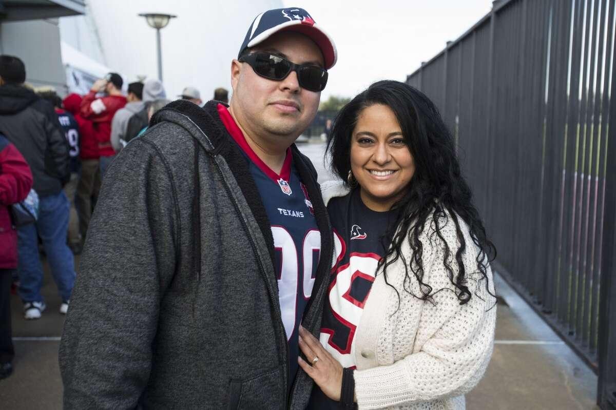 Houston Texans fans tailgate before an NFL football game between the Texans and the Jacksonville Jaguars at NRG Stadium on Sunday, Jan. 3, 2016, in Houston. ( Brett Coomer / Houston Chronicle )