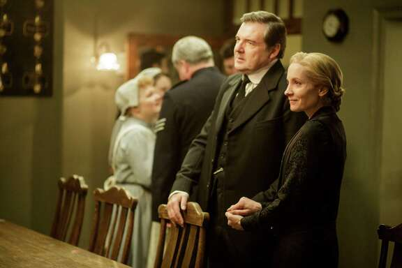 Bates (Brendan Coyle) and Anna (Joanne Froggatt): Come on, haven't they suffered enough?