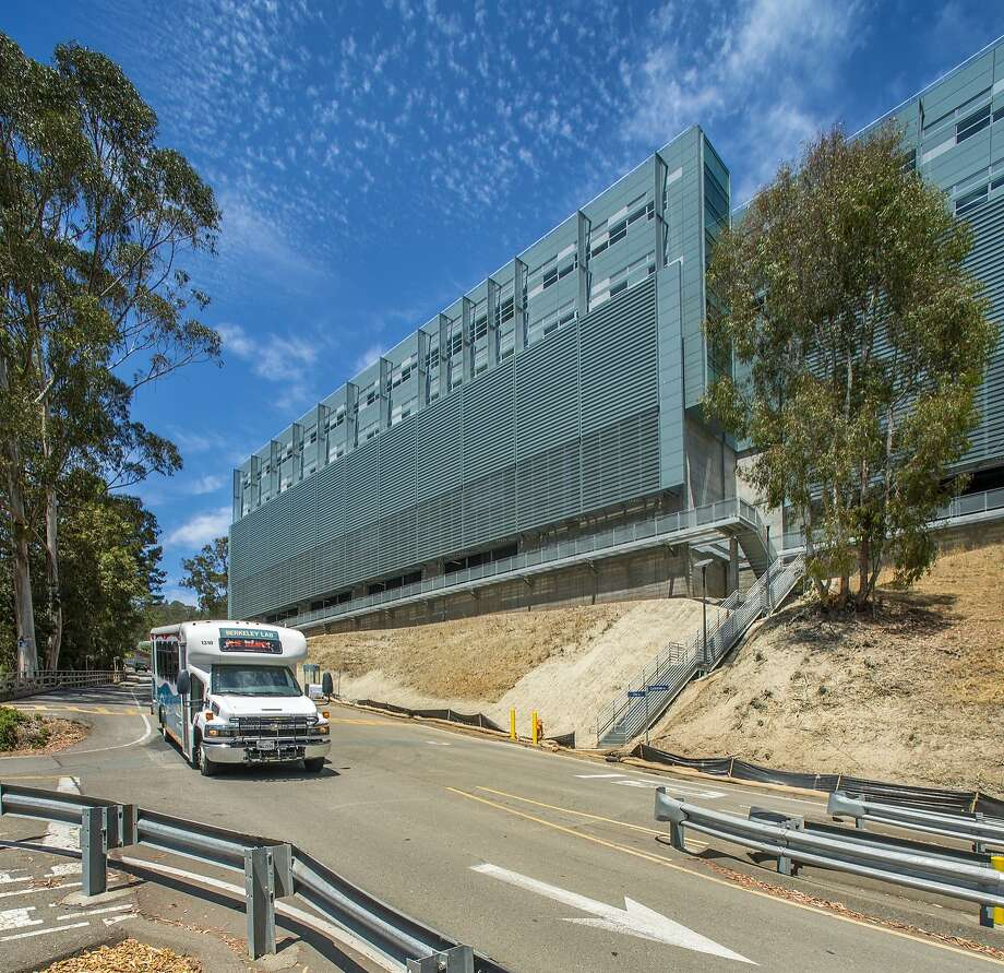 The machine-like Shyh Wang Hall at the Lawrence Berkeley National Laboratory rises above the UC Berkeley campus. Photo: Lawrence Berkeley National Lab
