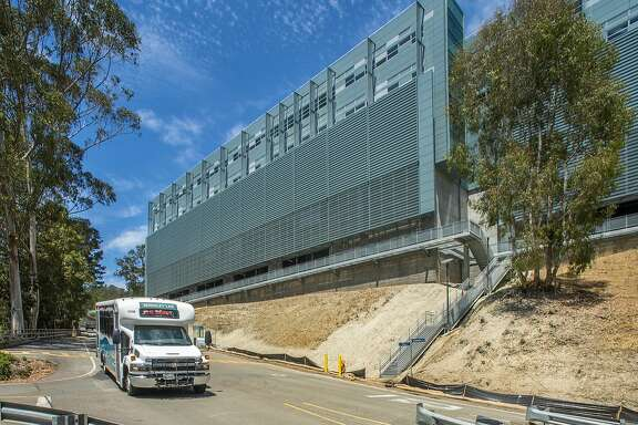 A photograph from July of the new Shyh Wang Hall at the Lawrence Berkeley National Laboratory above the UC-Berkeley campus.